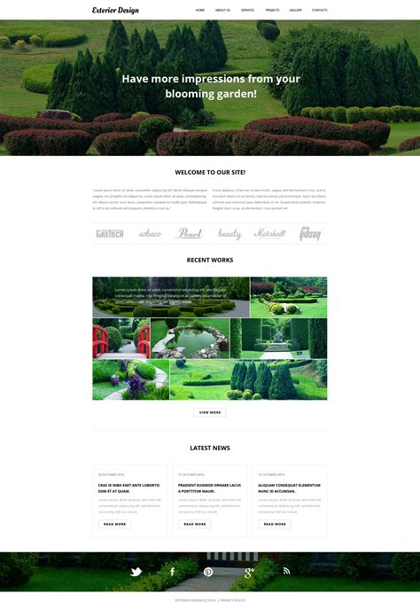 garden design website template 27430 fox garden design
