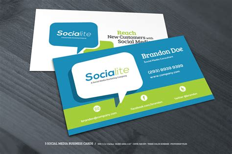 social media business cards free template preview 03 creative market 3 social media business cards o