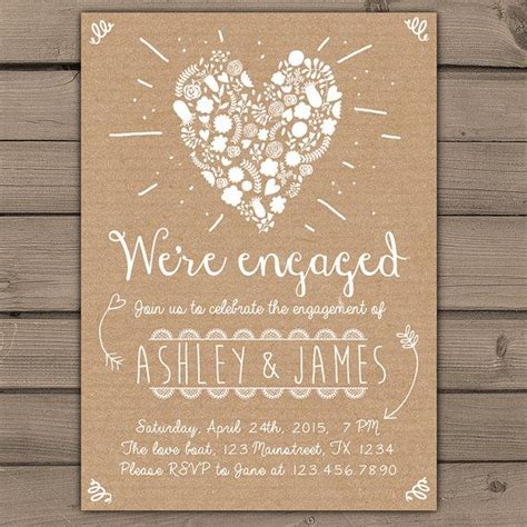 engagement party invitation engagement party invite engagement dinner wedding invite rustic