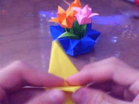 Origami Flower Pot - how to make an origami flower pot