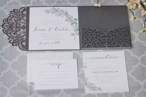 laser cut wedding invitations canada olive branch tuscan wedding invitations with laser cut enclosure impressions custom