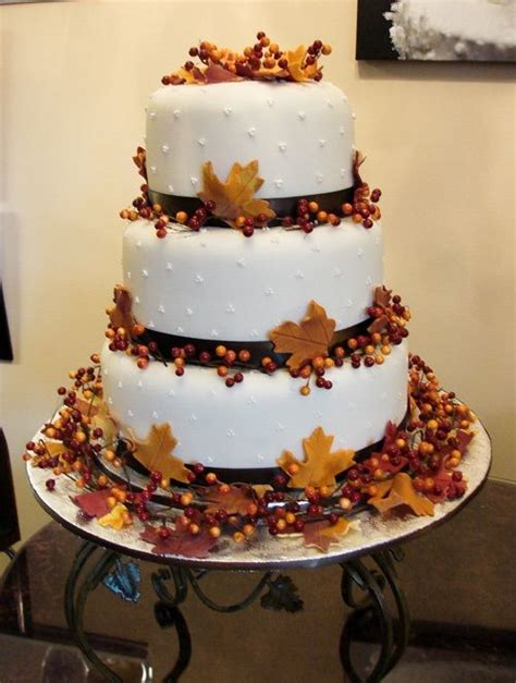 fall cakes decorating ideas 15 amazing designs for fall wedding cake decoration ideas