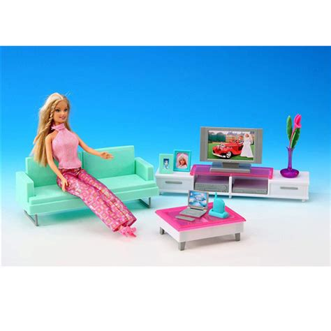 best barbie doll house miniature leisure living room furniture set for barbie