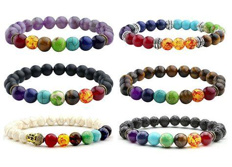 Chakra Bracelet Lava Healing Balance Beads Reiki Buddha Prayer Natural   HRC Quality Tools