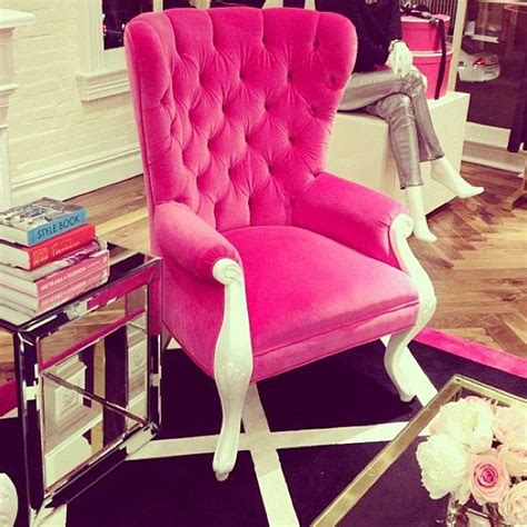 hot pink armchair hot pink upholstered chair jeenistyle instagram