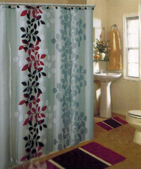 burgundy shower curtain sets new 15pc burgundy floral bathroom bath mats set rug carpet
