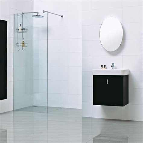 Haven 8mm Wet Room Glass Shower Panel 1200mm H3SP12CS