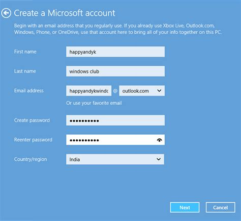 email microsoft account how to create a new user account in windows 10