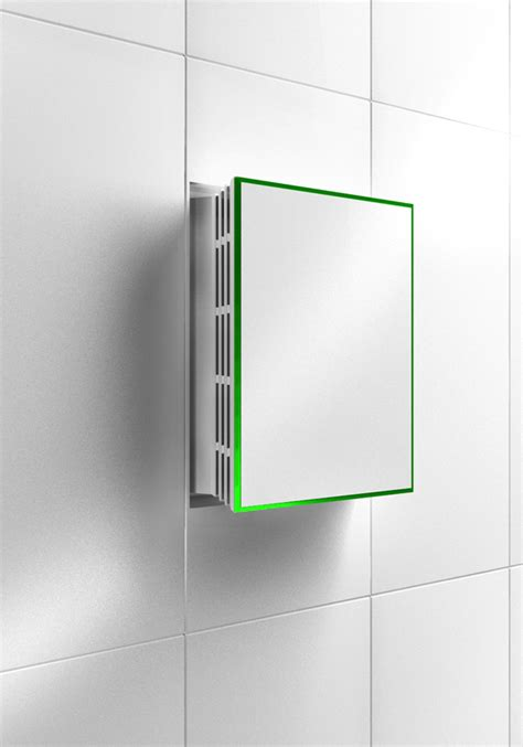 wall exhaust fan bathroom invisible fans yanko design