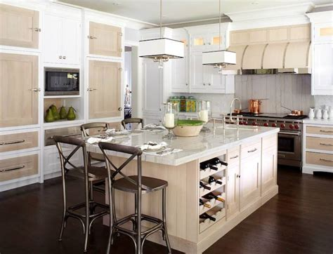 wine rack in kitchen island contemporary kitchen