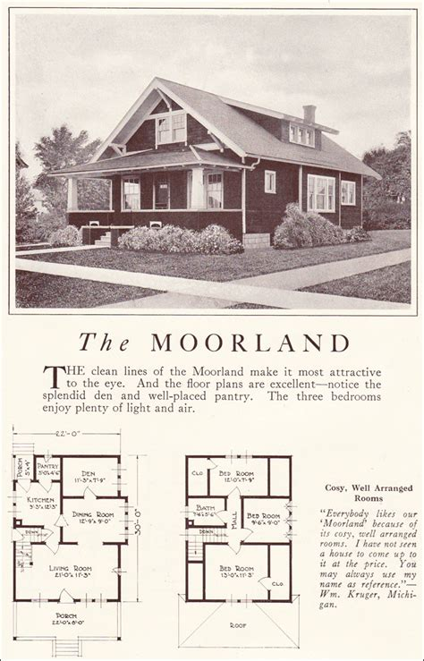 Lewis Homes Floor Plans Classic Bungalow 1922 Moorland Lewis Manufacturing