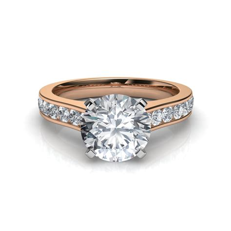 sidestones cathedral design diamond engagement ring