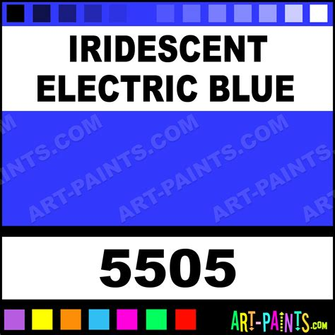 iridescent electric blue professional airbrush spray paints 5505 iridescent electric blue