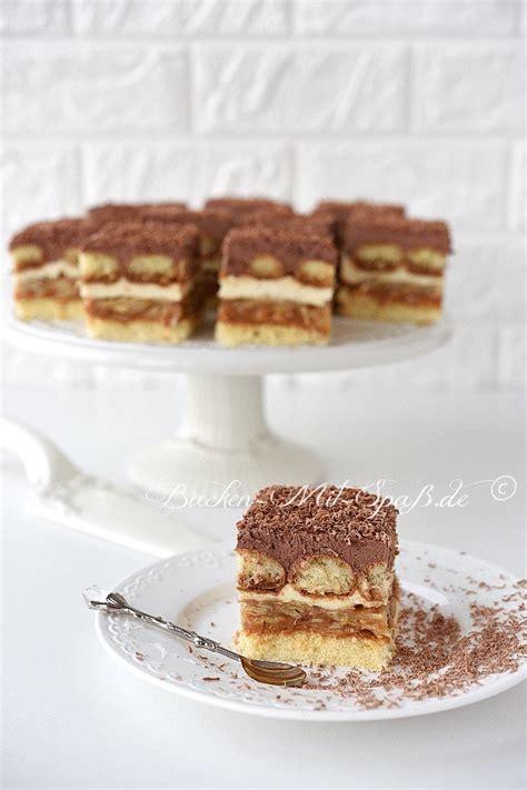 kuchen mit biskuitboden karamell sahne kuchen rezept