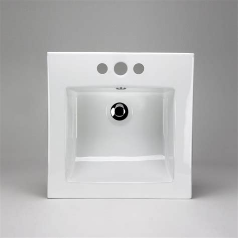square drop in sink acri tec neptune ceramic square drop in sink basin the