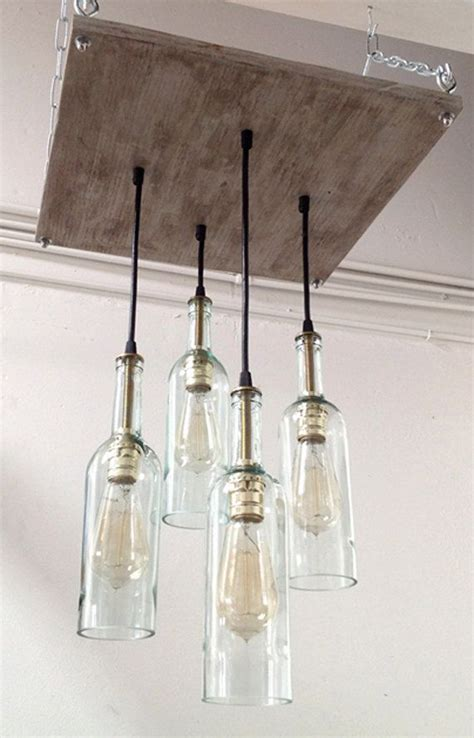 Wine Bottle Chandelier Wine Bottle Chandelier With Edison Bulbs