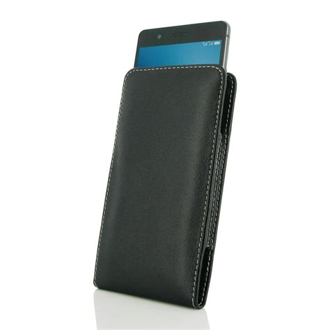 huawei p9 lite leather sleeve pouch pdair sleeve holster flip