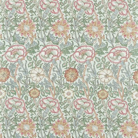 Pink & Rose Fabric   Eggshell / Rose (222532)   William Morris & Co Archive Prints 2 Fabrics
