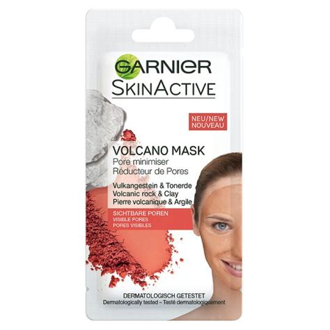 Masker Garnier Clear garnier rescue mask volanic rock 8ml groceries tesco