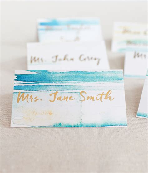 where to place foils diy gold foil place cards