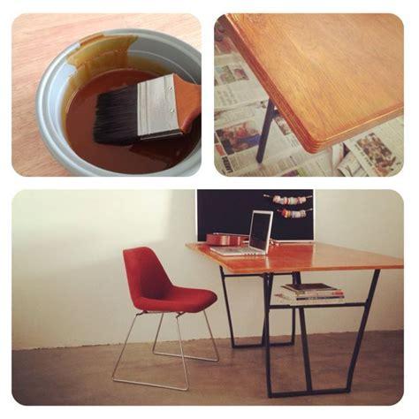 diy dining table ikea legs diy plywood table and ikea trestle legs diy