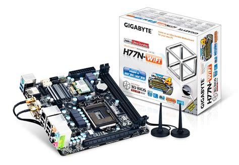Wifi Cpu gigabyte h77n wifi mini itx motherboard with intel wi di and dual lan spotted