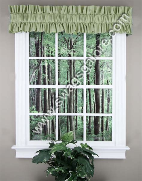 topper curtains stacey rod sleeve topper harvest green ellis kitchen