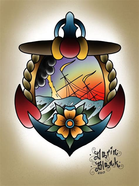 tattoo flash nautical 206 best my artwork images on pinterest