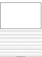 Free writing templates for kids stories theme page