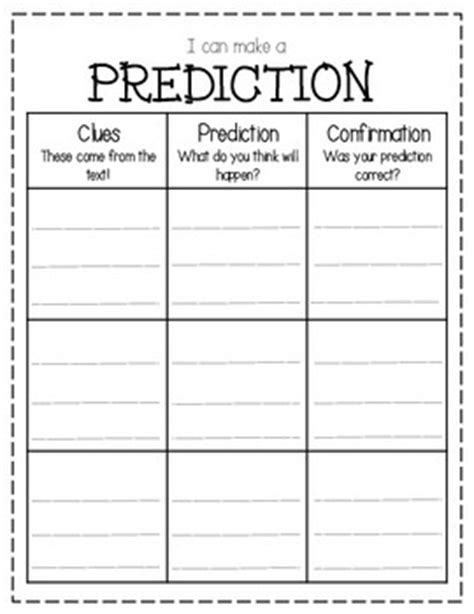 making predictions graphic organizer by sarah s collection