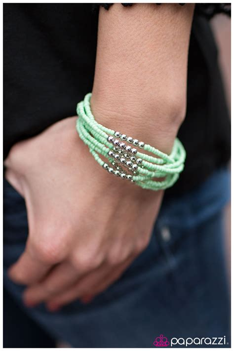 paparazzi accessories you bead me to it green