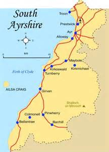 south map map of south ayrshire province area