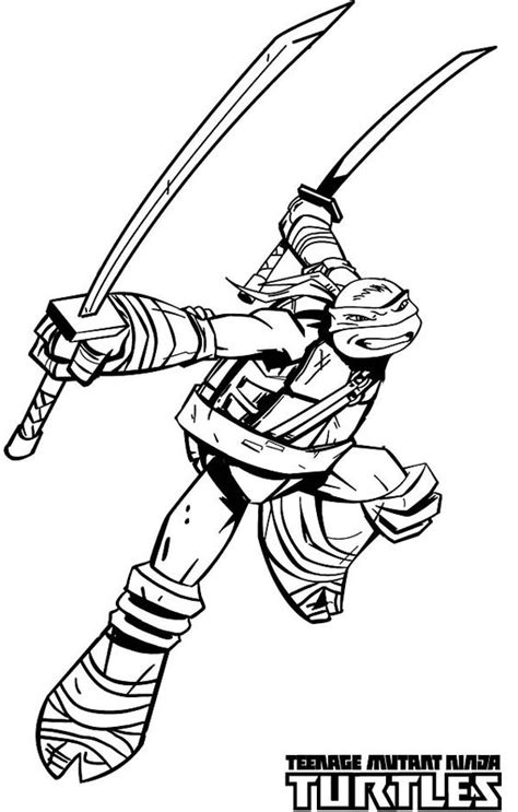 ninja turtles weapons coloring pages teenage mutant ninja turtles katana blades is leonardo