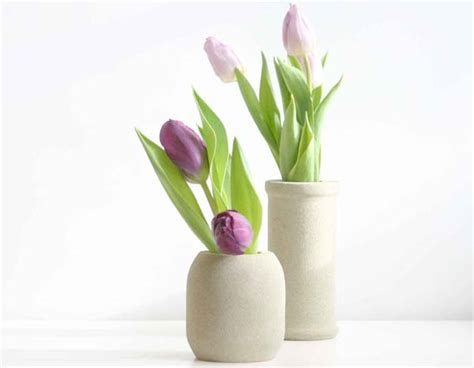 Tulips In Vases by Fresh Tulips In Crafted Vases