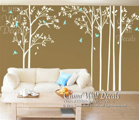 sticker murals for walls children wall decals tree wall decal birds wall mural by cuma