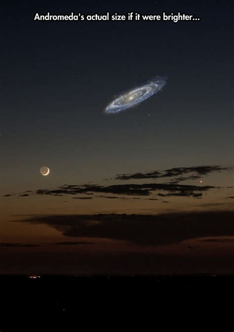How Many Light Years Away Is The Moon by Andromeda S Actual Size Galaxies The Galaxy And Way