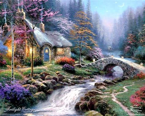 cottage paintings by kinkade paintings by kinkade 5