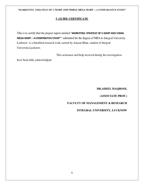 Dissertation Report For Mba Marketing by Dissertation Project Report On Marketing