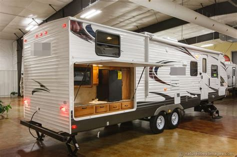 small travel trailer with outdoor kitchen new 2014 30dbss slide out bunkhouse travel trailer outdoor