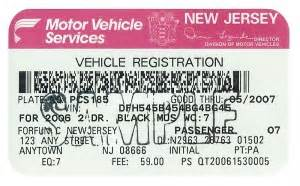 new jersey car laws did you get your vehicle registration renewal card