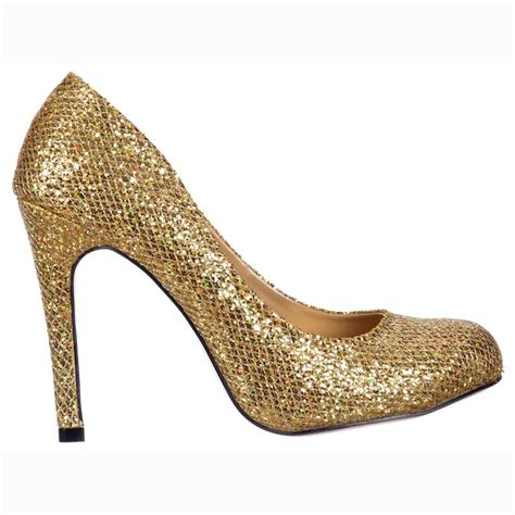 gold glitter shoes for shoekandi sparkly gold glitter sequined mesh stiletto