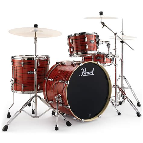 Set Drum Pearl Merah Asik drums pearl vision birch vba ltd edition 22 drum kit