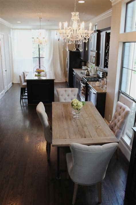 beautiful dining room in open concept kitchen the