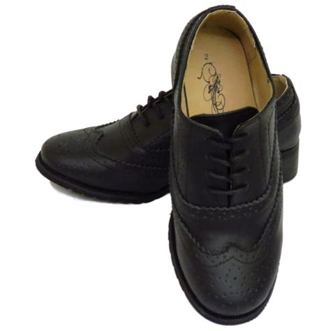 shoes for school costume childrens black leather smart oxford brogues lace