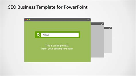 Template Seo by Flat Seo Powerpoint Template Slidemodel