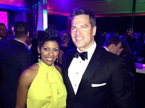 husband tamron hall married tamron hall and thomas roberts at the msnbc after party at