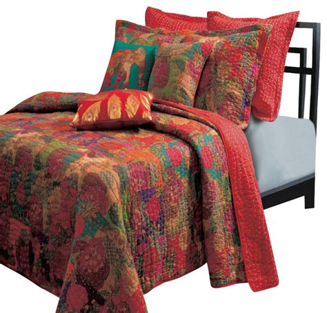 Coverlet And Shams Set Greenland Home Quilt And Sham Set 3