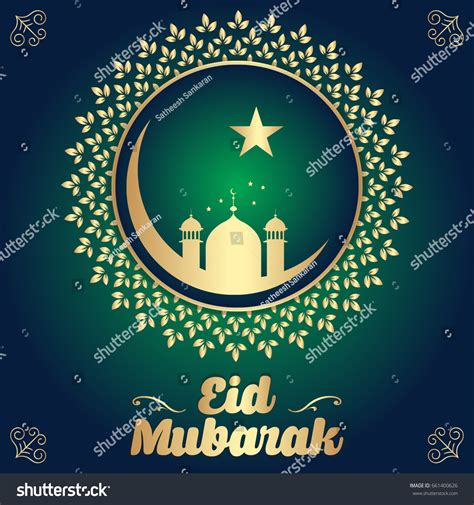 eid card design templates islamic creative vector design eid mubarak stock vector