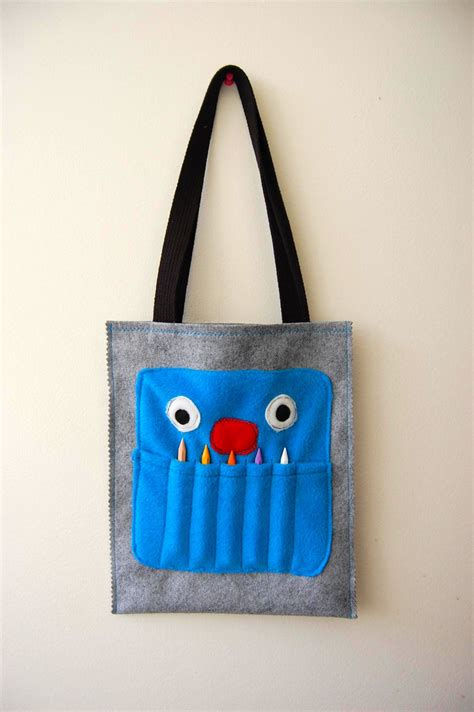 pattern for crayon tote bag quality sewing tutorials crayon monster tote bag tutorial