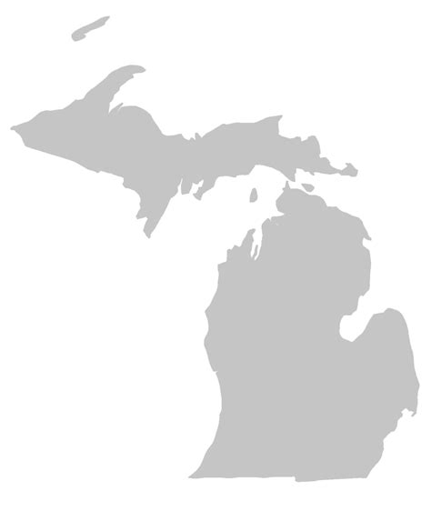 Outline Of Michigan State by Sea Grant Gt Program Locations Gt Mi